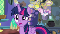 Flurry in the kitchen with Twilight MLPBGE