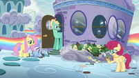 Fluttershy --I'm talking about Mom's flowers!-- S6E11