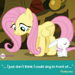Fluttershy and Angel promotional S4E14