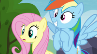 Fluttershy and Rainbow Dash hopeful S4E22