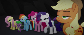 Main five and Spike looking disappointed MLPTM