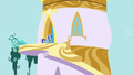 Minuette outside Twilight's tower home S5E12.png