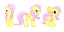 My little pony mobile game Fluttershy Model