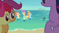Ocean Flow invites Twilight to seashell-crafting S8E6