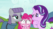 Pinkie Pie about to explode with excitement S7E4