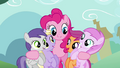 Pinkie Pie hugging fillies S2E18.png