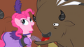 Pinkie Pie pulling the Buffalo's lip S1E21.png