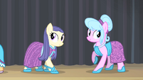 Ponies wearing dresses S4E08