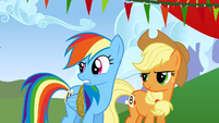 "Rainbow Dash ""you're an egghead"" S1E13"