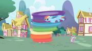 Rainbow Dash cleaning Twilight S1E01