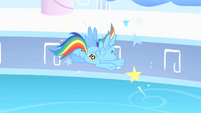 Rainbow Dash crashes head-on into wall S1E16