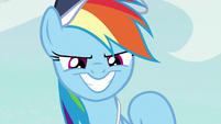 Rainbow with a wide confident grin S9E6