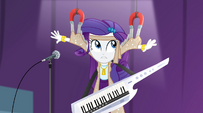 Rarity's outfit caught in magnets EG2