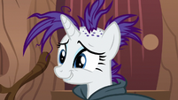 Rarity biting her lip nervously S7E19