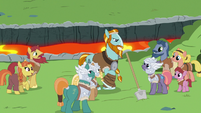 Rockhoof surrounded by his admirers S7E16