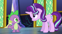 Spike --sure she'd want to hear-- S6E1