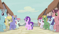 Starlight and villagers during In Our Town S5E1