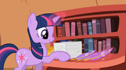 Twilight Sparkle checking off stuff on her to-do list S2E3