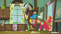 Big McIntosh gallops out of the house S8E10