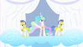 Celestia waves to the crowd S1E16.png