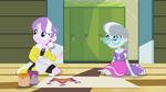 Diamond Tiara and Silver Spoon looking at principals EG2