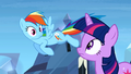 Discussion between Twi and Rainbow Dash S3E12.png