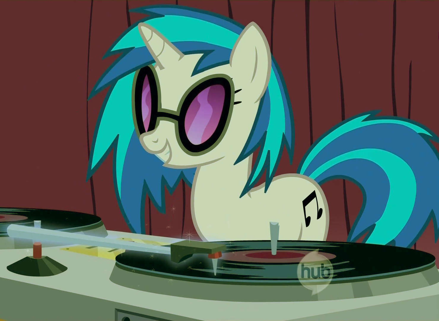 Mlp coloring pages dj pon 3 - Fanmade Dj Pon 3 Color Corrected Png