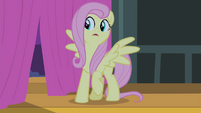 Fluttershy hears the crowd S4E14