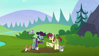 Hooffield and McColt ponies farming together S5E23