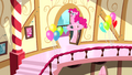 Pinkie Pie racing down stairs S4E12.png