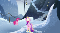 Pinkie and Cadance in the snow S5E11