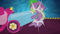 Pinkie knocks Spike out of the way with party cannon BFHHS5.png