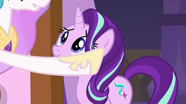 File:Princess Celestia stroking Starlight's mane S7E10.png