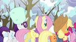 Rainbow Dash's friends walking away S5E5