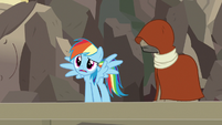Rainbow Dash talking about Ahuizotl S7E18