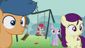 Students watch Pipsqueak; one of them on a swing S5E18.png
