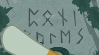 Sunburst uncovering ancient magic runes S7E25