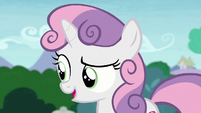"Sweetie Belle ""you don't still play with the same toys"" S7E6"