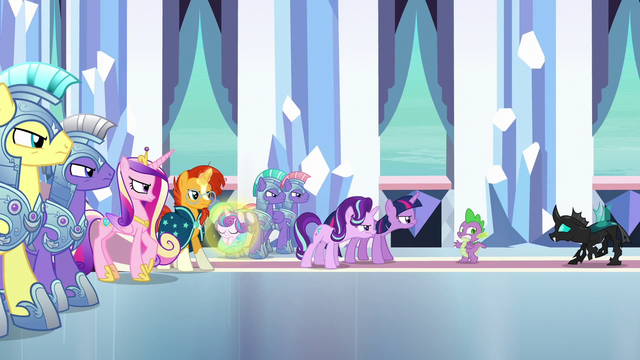 File:The ponies turn on Thorax S6E16.png