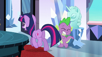 Twilight trotting past Spike S3E2