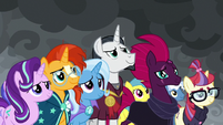 Unicorns listening to Twilight Sparkle S9E25