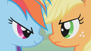 830px-Rainbow Dash vs Applejack S1E13