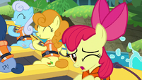 Apple Bloom singing --I won't feel so left behind-- S6E4