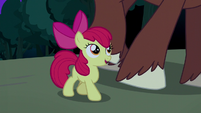 Apple Bloom walks next to Trouble Shoes S5E6