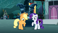 Applejack and Rarity looking at themselves S3E5