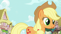 Applejack following Rarity S6E10