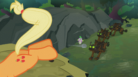 Applejack kicking a rock S3E9