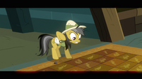 Daring Do pulls hoof away from tile floor S2E16