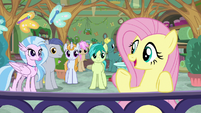 Fluttershy addressing her students S8E12