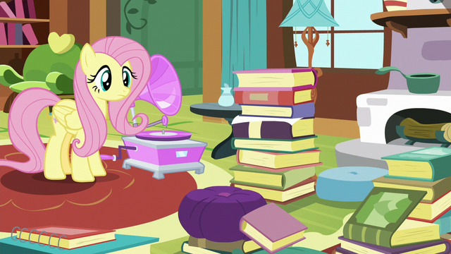 File:Fluttershy monitoring Angel Bunny S7E5.png